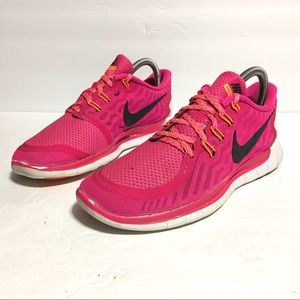 Nike Free 5.0 Womens Running Athletic Shoes Size 8